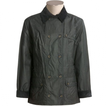 Barbour Double Breasted Jacket ,schwarz, Restgrößen