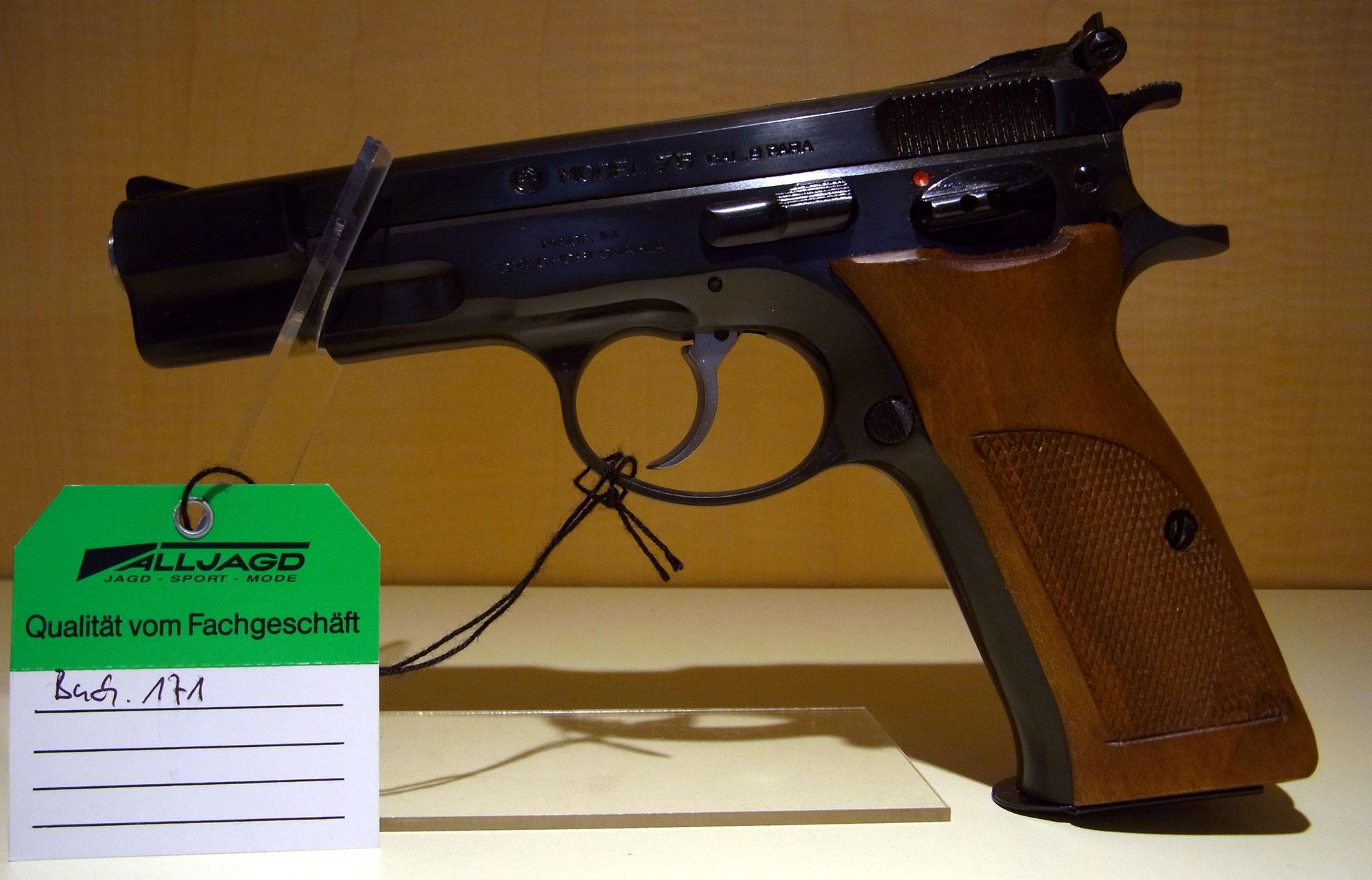 Brünner cz 75 kal. 9mm luger 350.00 u20ac waffen reinig.de